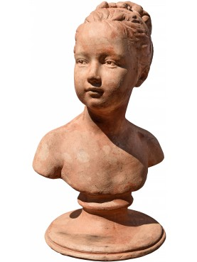 Louise Brongniart by Houdon - Child bust from Louvre