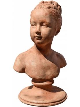 Louise Brongniart di Houdon - Busto Louvre fanciulla