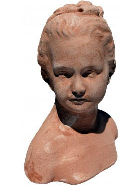 Louise Brongniart by Houdon - Child small bust from Louvre