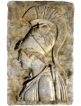 Bassorilievo dell'Atena del Pireo in marmo bianco di Carrara
