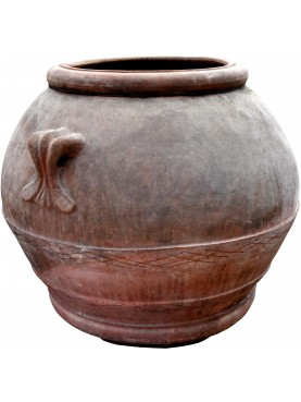 Ancient original Tuscan terracotta jar from Impruneta