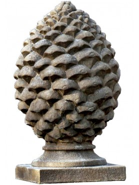 BIG ROMAN STONE ORNAMENTAL PINE CONES