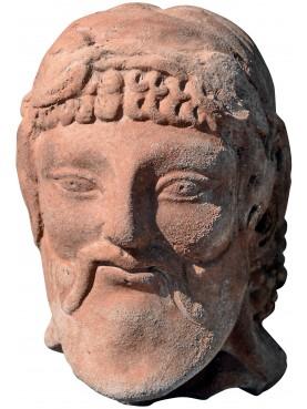 Etruscan terracotta Baccus head Fufluns