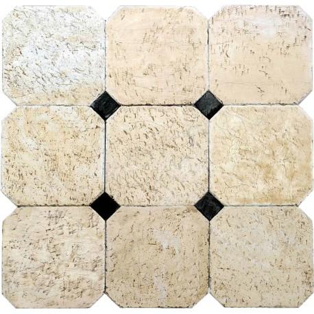 Tiles 40 x 40 cm with 8 x 8 cm tassel