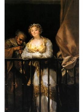 """La ringhiera di Francisco Goya """"Majas al balcone"""" ferro battuto"""