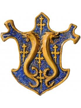 Stemma in maiolica della famiglia dei Pazzi di Firenze - XI secolo