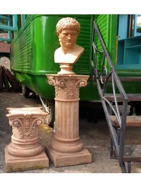 Colonnetta corinzia piccola - colonna in terracotta con capitello