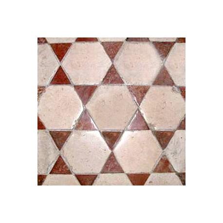Pavimento di nostra produzione terracotta + pietra calcarea