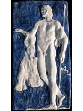Classic greek man figure - majolica