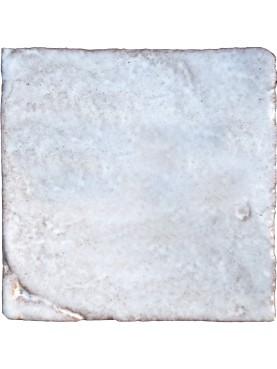 White Hand made maiolica tile