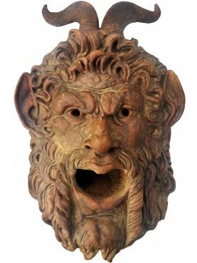 Mascherone in terracotta dei Musei Capitolini, nostra riproduzione patinata a cera