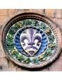 Originale di Luca Della Robbia Tribunale di Mercatanzia, terracotta invetriata Maiolicata del 1463