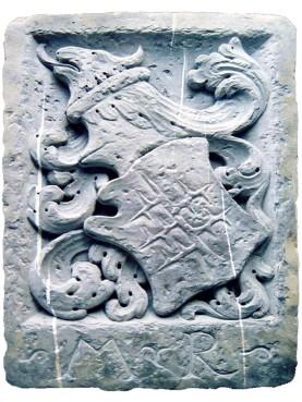 Stemma Malaspina dello Spino Secco in marbo bianco di Carrara
