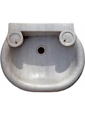 Lavello da bagno in marmo bianco copia di un manufatto seicentesco