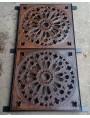 Tombino di 100x50 cm realizzato con due grate 50x50 - contenute in una anima di acciaio