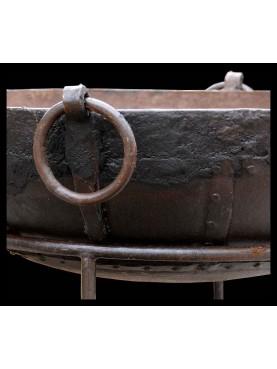 Enormi bracieri barbecue in ferro diam. 80 cm