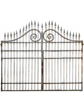 Wrought iron garden gate 3,6m. italian
