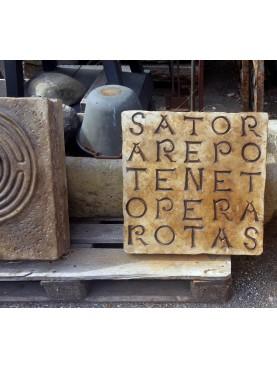 Il nostro SATOR in pietra