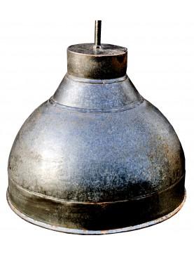 Plafoniera in ferro Ø31cm smaltato globosa industriale