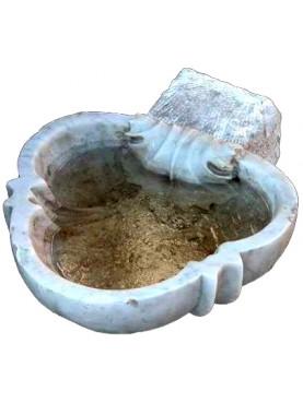 Acquasantiera in marmo bianco di Carrara Italiana