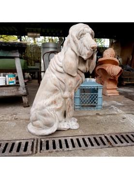 S.Huberto Bloodhound CANE IN TERRACOTTA