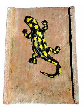 Salamander on ancient rooftile