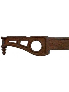 Ancient original Italian 90cms Iron brackets