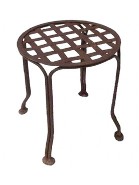 Iiron stool with braided iron - wroughtiron