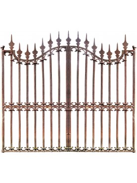 Garden Gate 270 cm large forged iron