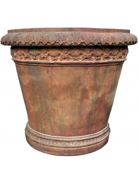 Terracotta large Citrus Vase with patina