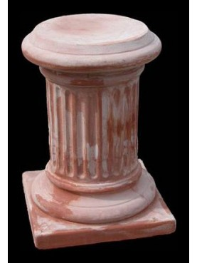 Colonna H.47cm/Ø25cm in terracotta