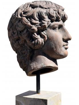Antinoo con base in marmo o pietra
