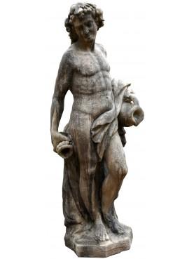 Statua di Bacco in cemento altezza 180 cm senza base