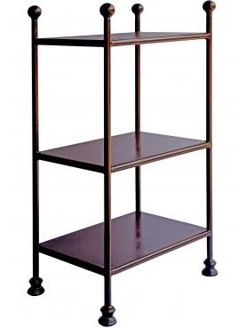 Rectangular Display Étagère shelf rack forged iron - library and vase display