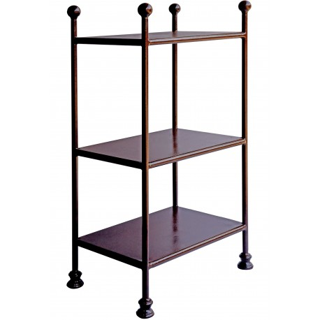 Rectangular Display Étagère shelf rack forged iron - library and vase display