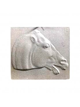 Bas-relief Horse by Phidias in plaster