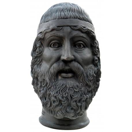 bronzo di Riace - Il giovane - terracotta patinata a bronzo