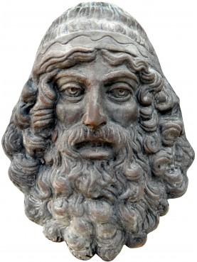 Mascherone bronzo di riace in terracotta
