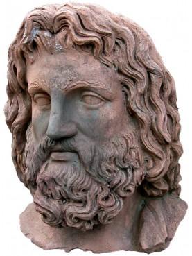 Testa di Zeus in terracotta