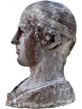 Auriga of Delfi terracotta Head
