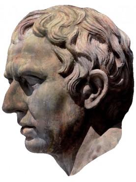 Testa di Plinio in terracotta - copia di statua romana