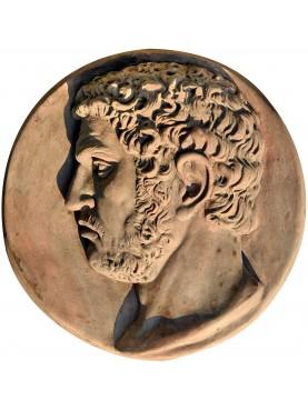 Caracalla terracotta roundel roman emperor