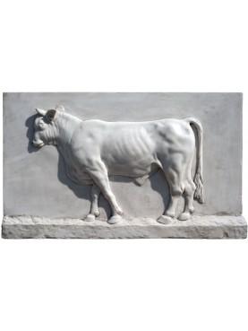 "White Carrara marble torso ""Roman Bull"""""