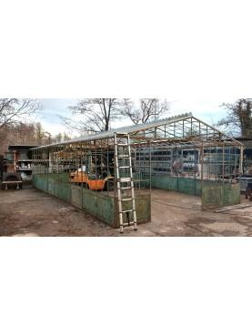 Serra artigianale da giardino in ferro battuto 10 x 6 m