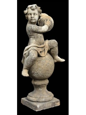Putto on the ball with cymbals
