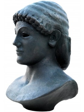 Apollo di Piombino - our terracotta bust - bronze patina
