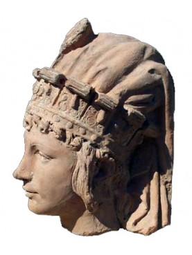 La regina di Saba testa in terracotta