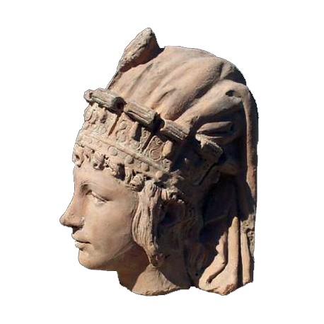 Sheba Queen roman head - terracotta copy