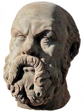 Socrate testa in terracotta - copia di scultura greca