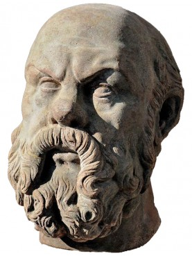 Socrates terracotta head - greek head copy